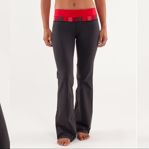 1e0ccaa41ed64 lululemon athletica Pants - FINAL SALE Lulu Groove Pant Red Yoga Reversible